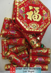 "Chinese New Year Decorative Firecrackers size 43"" Long (measured from top of of the octagon to the last fire cracker) (WXF7)"