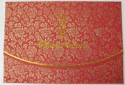 """Chinese Wedding Invitation Cards w/red color envelope (pack 0f 10) (size: 5.0""""  x 7.5"""")(WX5T)"""