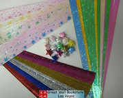 Origami Stars Papers (Large Size) Package HW (3 packs total approx. 200 pieces)(WXHW)