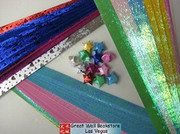 Origami Stars Papers (Large Size) Package J3 (3 packs total approx. 200 pieces)(WXJ3)