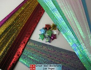 Origami Stars Papers (Large Size) Package J4 (3 packs total approx. 200 pieces)(WXJ4)