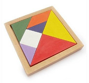 "Tangram for kids 3 years and up (size: 5.0"" x 5.0"" including frames)(WXKP)"