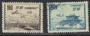 Taiwan Stamps : 1954, TW A12 Scott C66, C67 Taipei Print - Used - (9T0DD) - (9T0DD)
