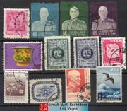 Taiwan Stamps : 12 stamps pack - Used - (9T0EP) - (9T0EP)