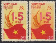 Vietnam Stamps - 1958, Sc 69-70, May 1st - MNH, F-VF - (9N040)