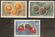 Cambodia Stamps - 1962 , Sc 109-11 Fruits - MNH, F-VF - (9A02C)