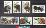 Vietnam Stamps - 1992, Sc 2016-22, Dogs - MNH, F-VF - (9N080)