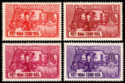 South Vietnam Stamps - 1963, Scott 207-10, Freedom from Hunger - MNH, F-VF - (9V08U)