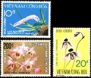 South Vietnam Stamps - 1974 , Sc 490-2, 1974 Flowers - MNH, F-VF  - (9V03X)