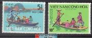South Vietnam Stamps - 1974, Scott 466-7 Sampan Ferry - MNH, F-VF - (9V04X)
