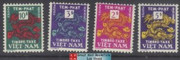 South Vietnam Stamps - 1952 , Sc J7-10, NC, Postage Due Stamps - Dragon , MNH, F-VF - (9V05L)