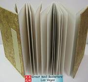 "Rice Paper Folding Chinese Book (Accordion Book) for Calligraphy/Painting/Photos/Wedding Signatures..... Size: 5.75"" x 3.8"" - Total 24 panels (see image for panel count example) (WX4K)"