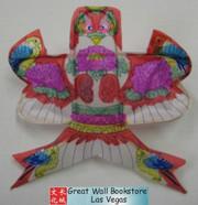 """Mini Chinese Kite Artwork - kite size: 4.4"""" x 4.4"""" (WX6E)"""