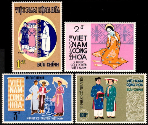South Vietnam Stamps - 1970, Sc 370-3 Costumes - MNH, F-VF (9V08W)