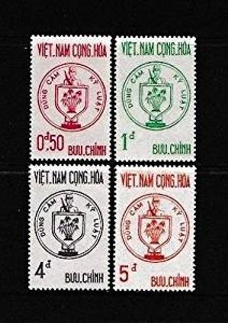 South Vienam Stamps - 1963 , SC# 215-8, Fighting Soldiers - MVLH, F-VF (9V0B3)