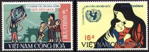 South Vietnam Stamps - 1968, Scott 337-8, UNICEF, MNH, F-VF  (9V00K)