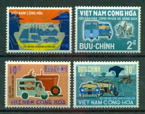 South Vietnam Stamps - 1968, Scott 331-4, Private Property Ownership, MNH, F-VF (9V018)