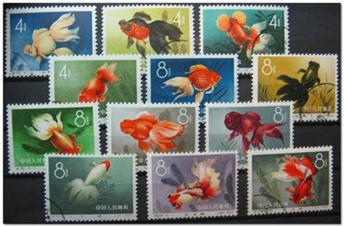 China Stamps - 1960, S38, Scott 506-517 Goldfish - CTO, NH  (9050F)