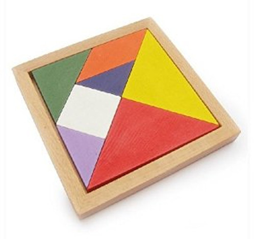 """Tangram for kids 3 years and up (size: 5.0"""" x 5.0"""" including frames)(WXKP)"""
