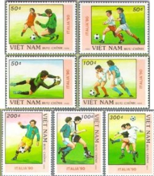 Vietnam Stamps - 1989, Sc 2008-14, VN Code # 575, World Cup Football Championship Italia'90 (1st series), MNH, F-VF - (9N01C)