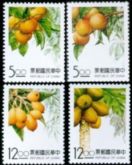 Taiwan Stamps : 1993, Taiwan stamps TW S325 Scott 2916-9 Taiwan Fruits, MNH, F-VF - (9T00Q)