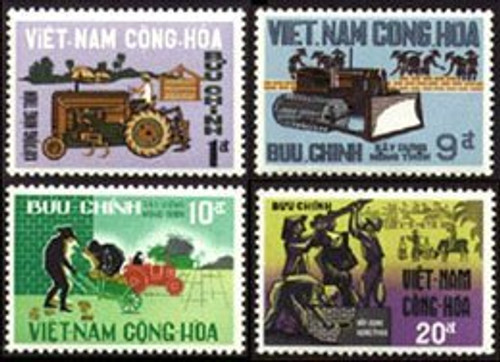 South Vietnam Stamps - 1968, Scott 322-5, Rural Construction Porgram - MNH, F-VF - (9V00F)