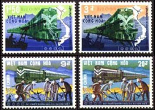 South Vietnam Stamps - 1968, Scott 339-42, REOPENING OF TRANS-VIETNAM RAILROAD, MNH, F-VF - (9V00U)