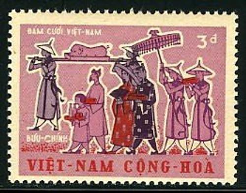 South Vietnam Stamps - 1967, Scott 315, Wedding Procession, MNH, F-VF - (9V00W)
