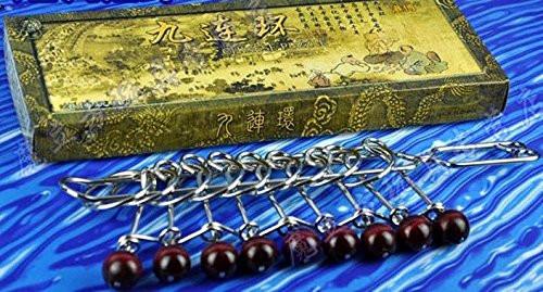 九连环 : 中国最杰出的益智游戏 Chinese Nine Linked Rings Puzzle/ Chinese Rings (jiulianhuan)  (WXPQ)