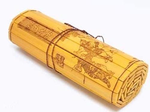 孙子兵法 Collectable Bamboo Scroll (Carving in English/Chinese on double sided bamboo scroll) : The Art of War (WXH2)
