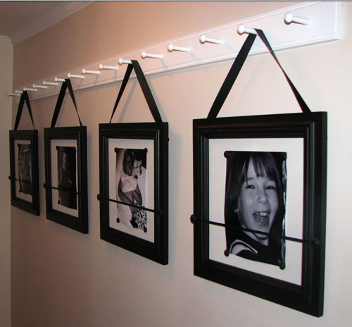 Wow!  What a great idea hanging family photo frames from one of our Classic Shaker Peg Racks!!