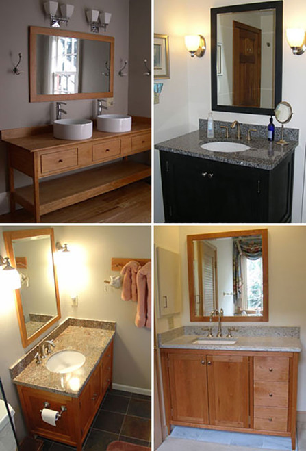 """Our Shaker style mirrors are made from American hardwoods.  The frames are 2-1/4"""" wide encompassing very high quality 1/4"""" thick mirrors with your choice of a 1"""" bevel, 3/4"""" bevel, 1/2"""" bevel or no bevel."""
