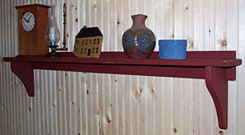 Shown here in barn red milk paint.