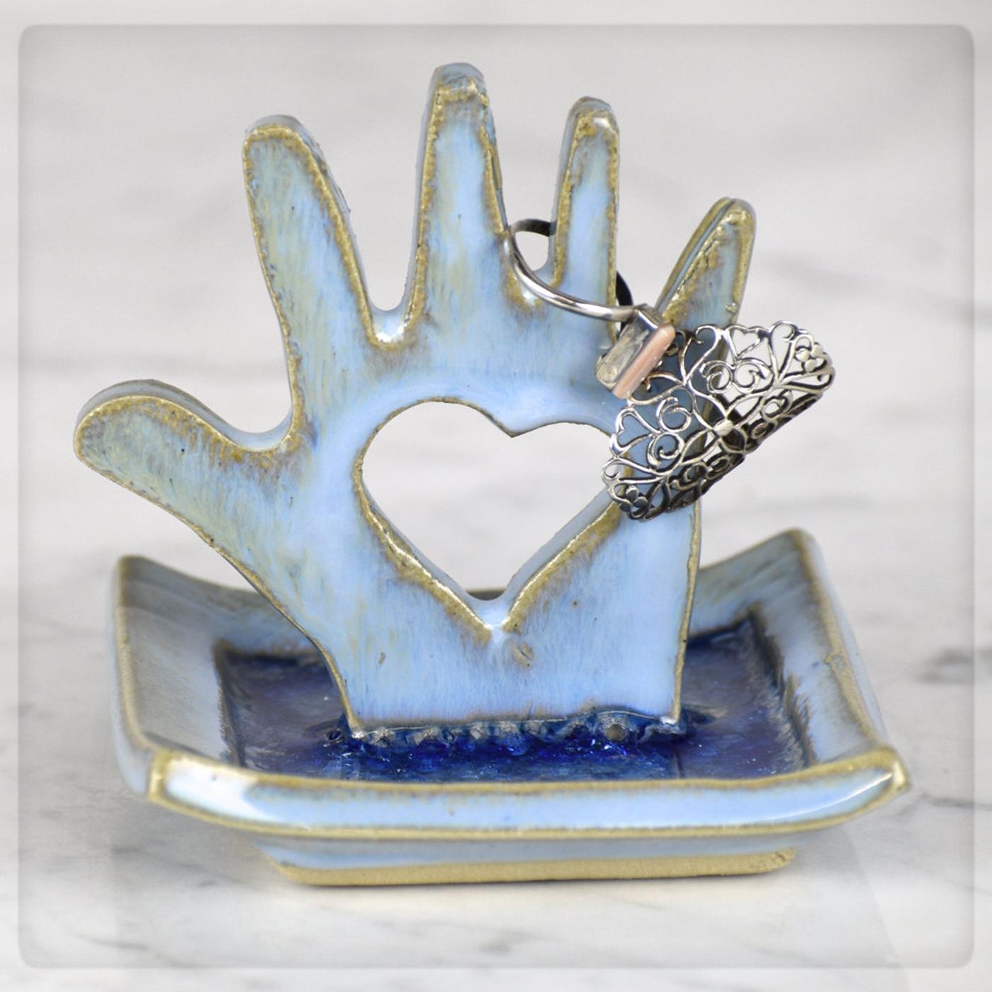 heart hand dish