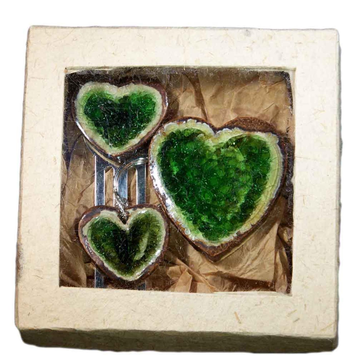 heart shapes gift set