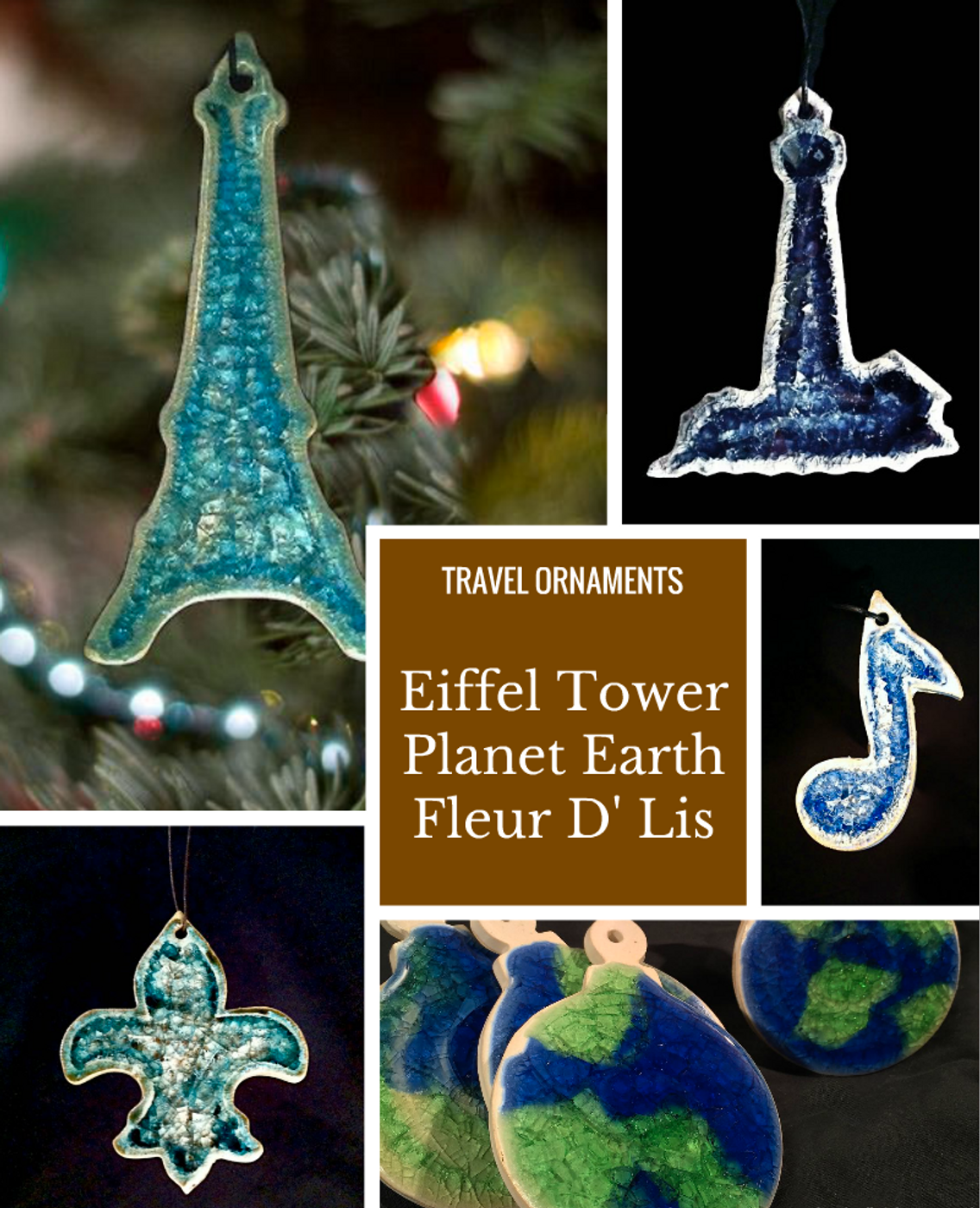 Travel Theme Ornaments