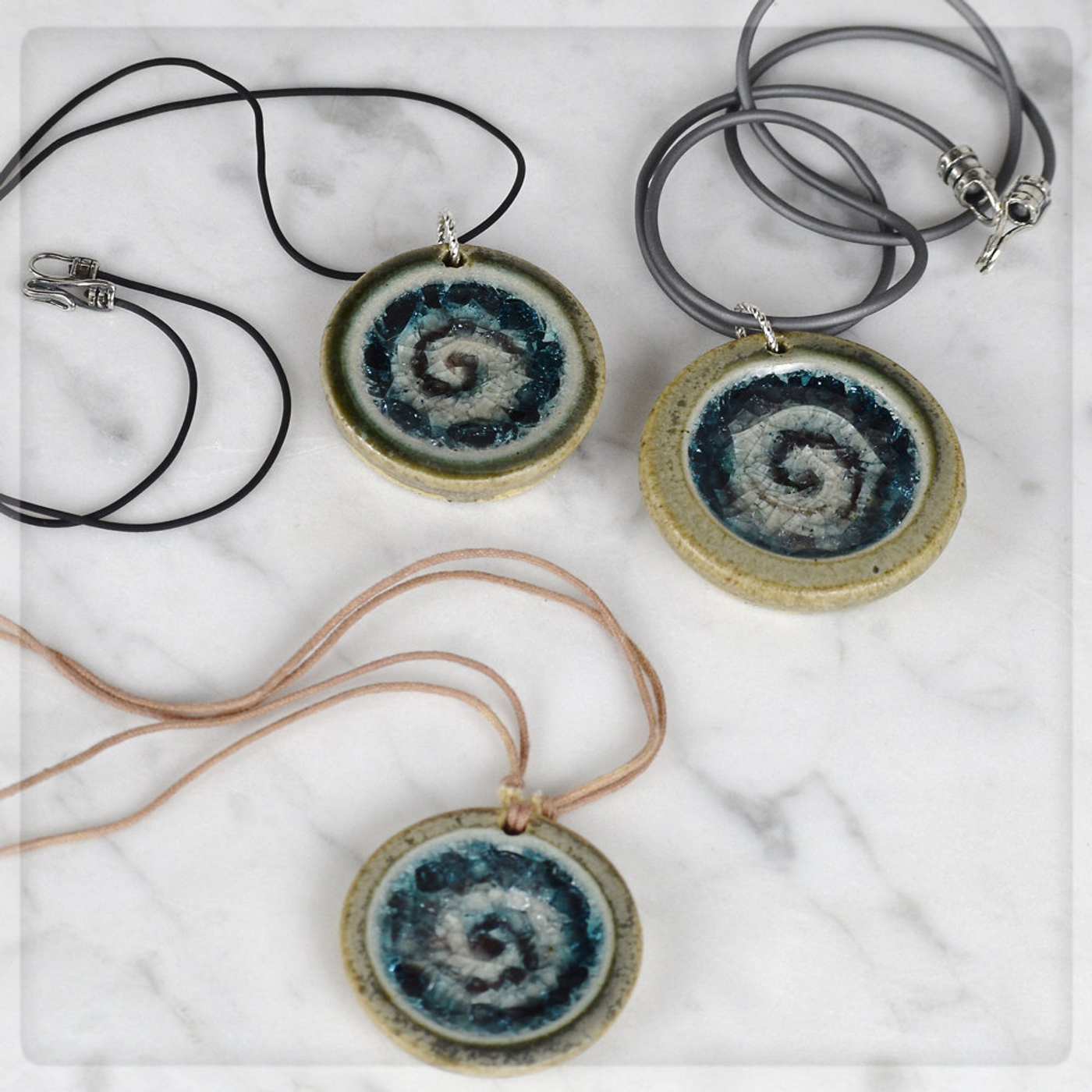 swirl necklaces