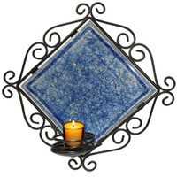 metal sconce candle