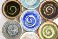 swirl glass pottery