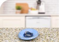 blue glass dish kitchen