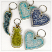 keychains glass pottery