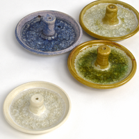 hand thrown pottery incense burners