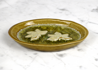 lotus flower glass dish