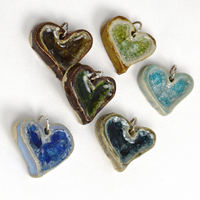 glass heart pendants
