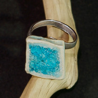 square glass ring