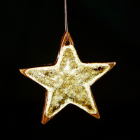 Star Ornament - Brown Glass