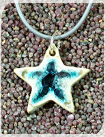 star necklace silver cord