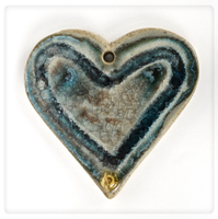 unique glass heart hook