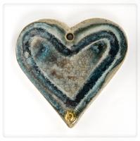 unique glass heart hook