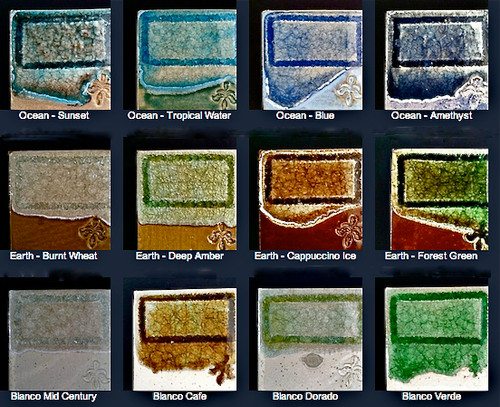 Crackle Glass Pottery Color Board